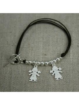 Bracelet 1,2,3,4... mini figurines 10x16mm