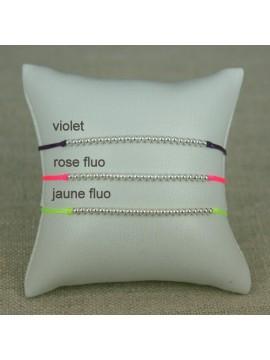 Bracelet mini boules argent