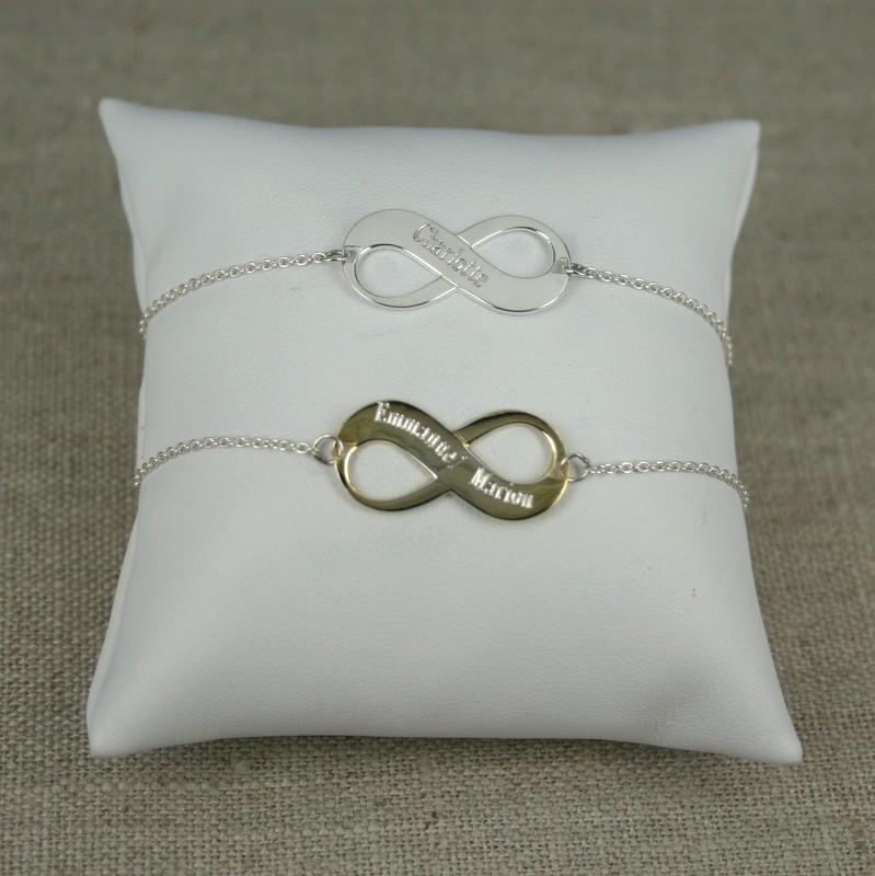 bracelet infini prenom plaque or. Black Bedroom Furniture Sets. Home Design Ideas