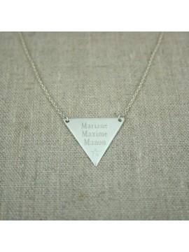 Collier triangle à graver