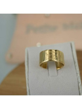 Bague large à graver 10 mm en argent ou plaqué or