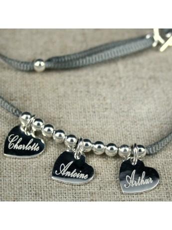 Bracelet ou collier 3 médaille montée sur ruban fin ®