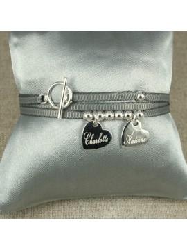 Bracelet ou collier 2 médailles montées sur ruban fin ®