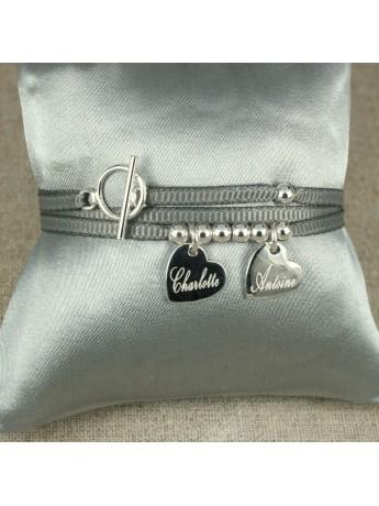 Bracelet ou collier 2 médaille montée sur ruban fin ®