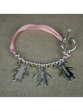 Bracelet 1,2,3,4... figurines + fermoir