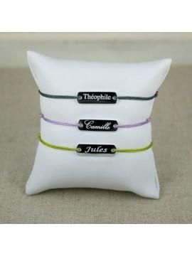 Bracelet plaque gourmette gravé