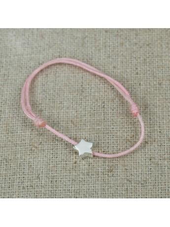 Bracelet mini étoile argent