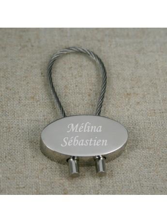 porte clé ovale câblé