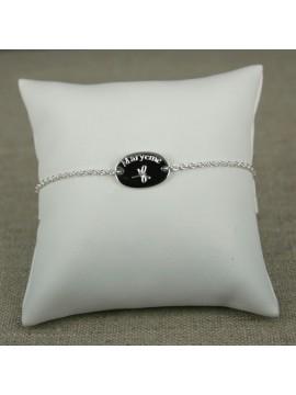 Bracelet gourmette médaille ovale à graver