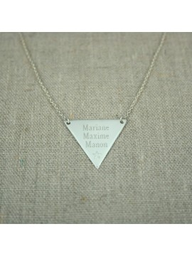 Collier triangle à graver
