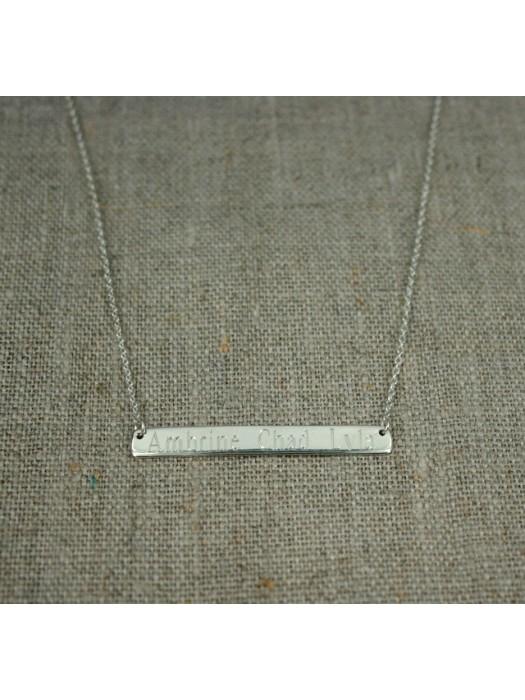 collier plaque horizontale graver fifi brin d 39 argent bijoux personnalis s en argent massif. Black Bedroom Furniture Sets. Home Design Ideas
