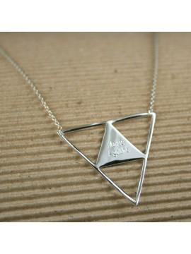 Collier Triangle FIFI BRIN D'ARGENT ® à graver
