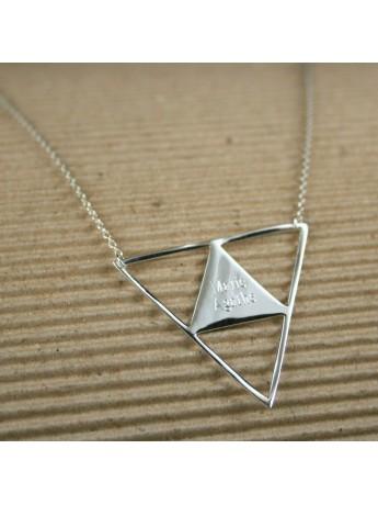 Collier Triangle FIFI BRIN D'ARGENT ® à gravé
