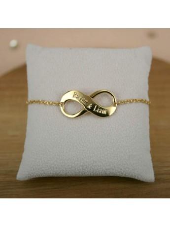 bracelet infinity à graver