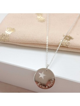 Médaille étoile décentrée