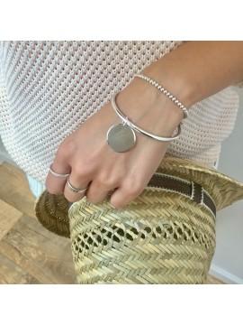Bracelet Jonc avec 1 médaille gravée