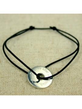 Bracelet médaille jeton 15 mm à graver