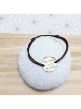 Bracelet médaille argent 20mm