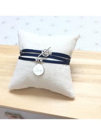 Bracelet ou collier 1 médaille montée sur ruban fin ®