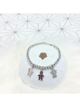 Bracelet boules en argent