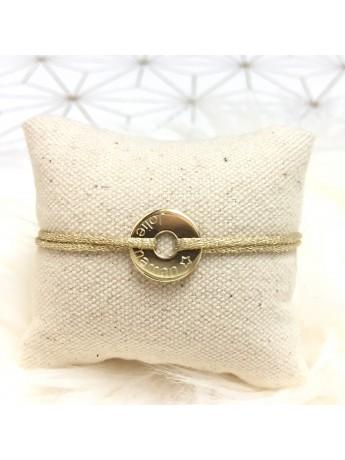 Bracelet médaille Jeton 15 mm personnalisable et réglable
