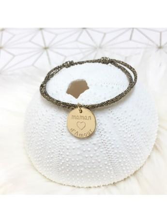 Bracelet médaille 15 mm personnalisable