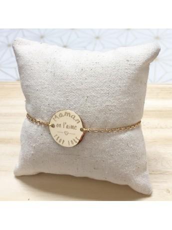 bracelet médaille ronde à graver