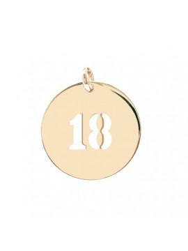 Médaille initiale ou chiffre ajourée