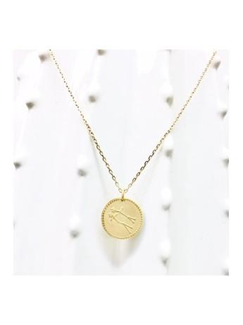 collier pendentif constellation gemeaux relief