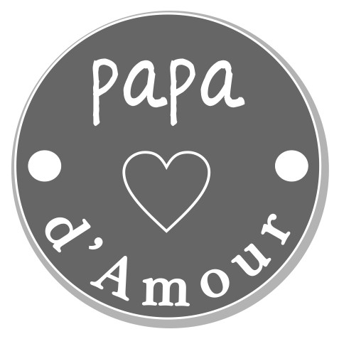 thème papa : 5 papa d'amour coeur, 2 trous