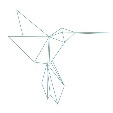 thème origami : Colibri