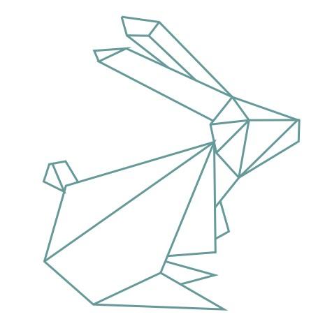 thème origami : Lapin