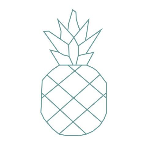 thème origami : Ananas