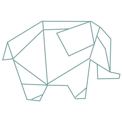 thème origami : Eléphant