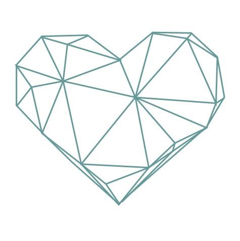 thème origami : Coeur