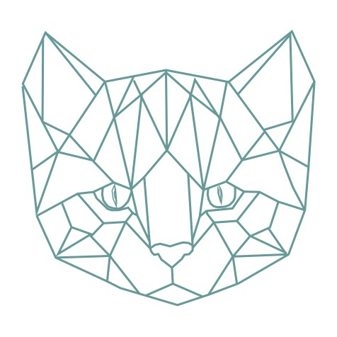 thème origami : tête de chat