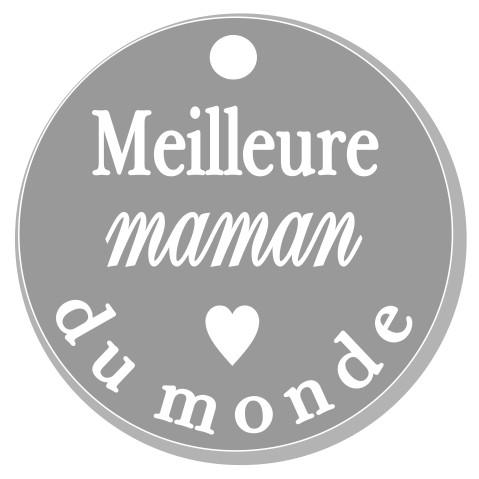 thème maman : 1 Meilleure maman du monde pendante