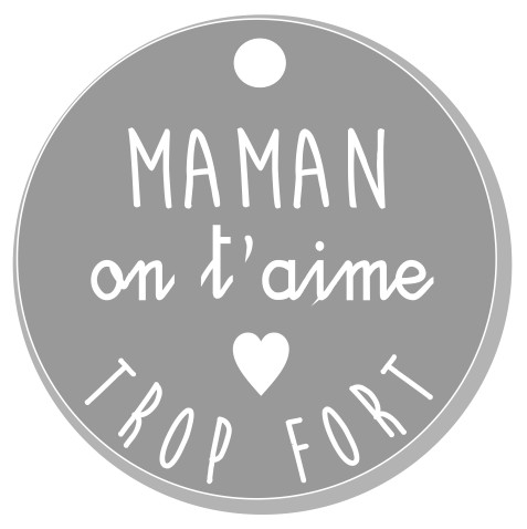thème maman : 2 Maman on t'aime trop fort. pendante